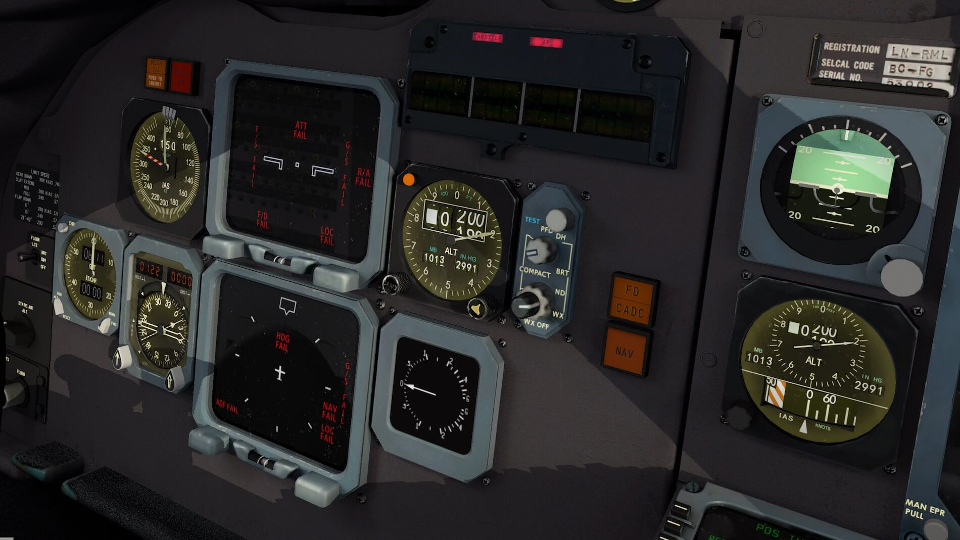 Rotate-MD-80 3D cockpit overview 1
