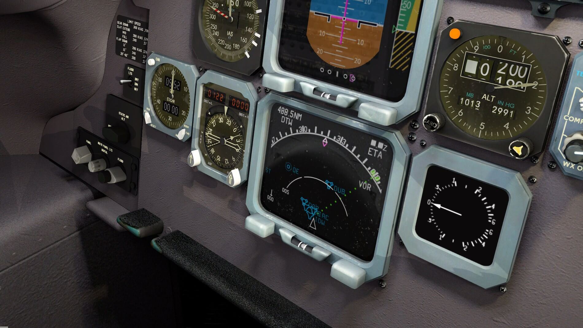 Rotate-MD-80 3D cockpit overview 3