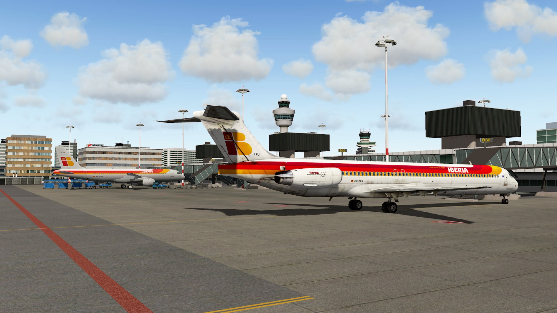 Rotate MD-88 Iberia Flight EHAM-GCTS 1