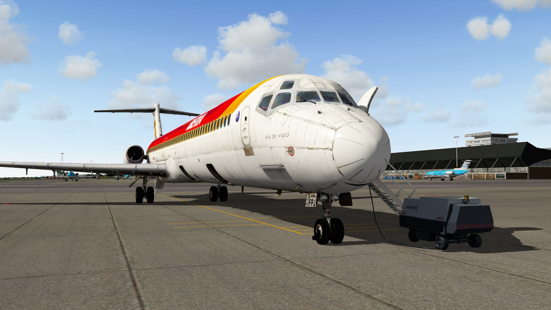 Rotate MD-88 Iberia Flight EHAM-GCTS 2