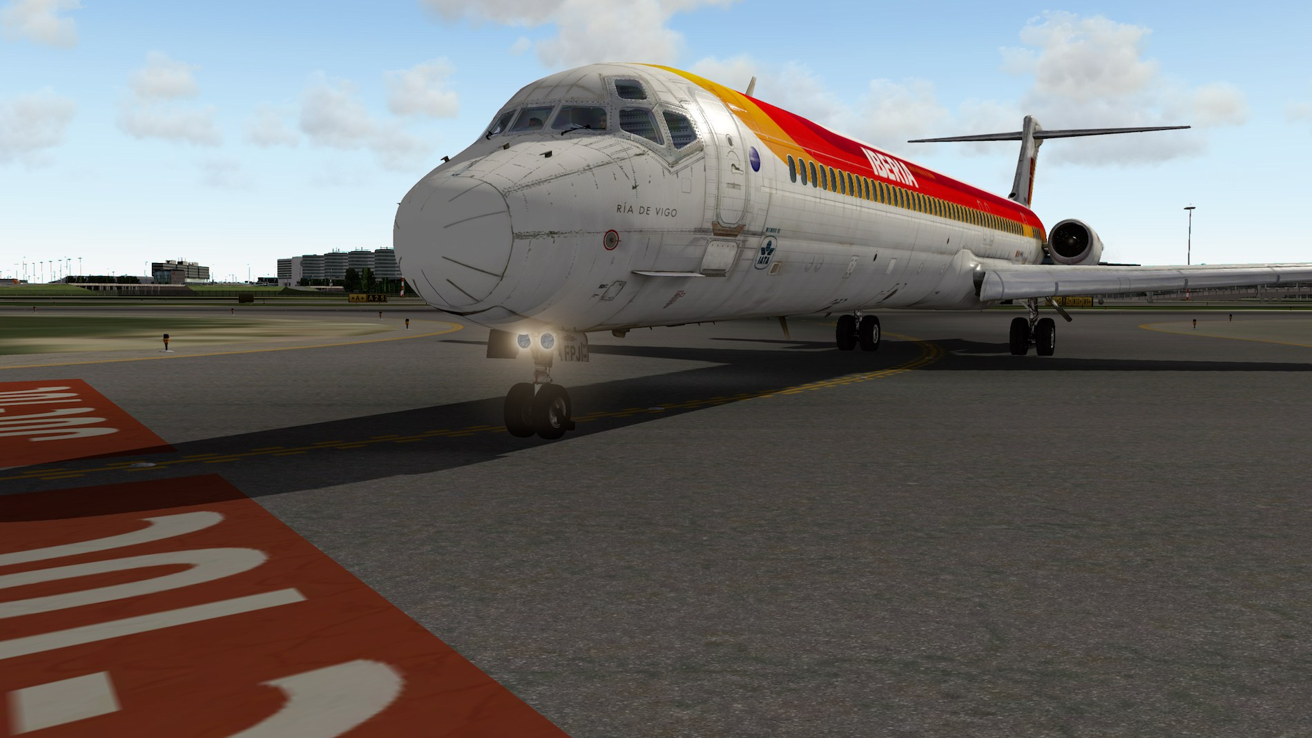 Rotate MD-88 Iberia Flight EHAM-GCTS 21