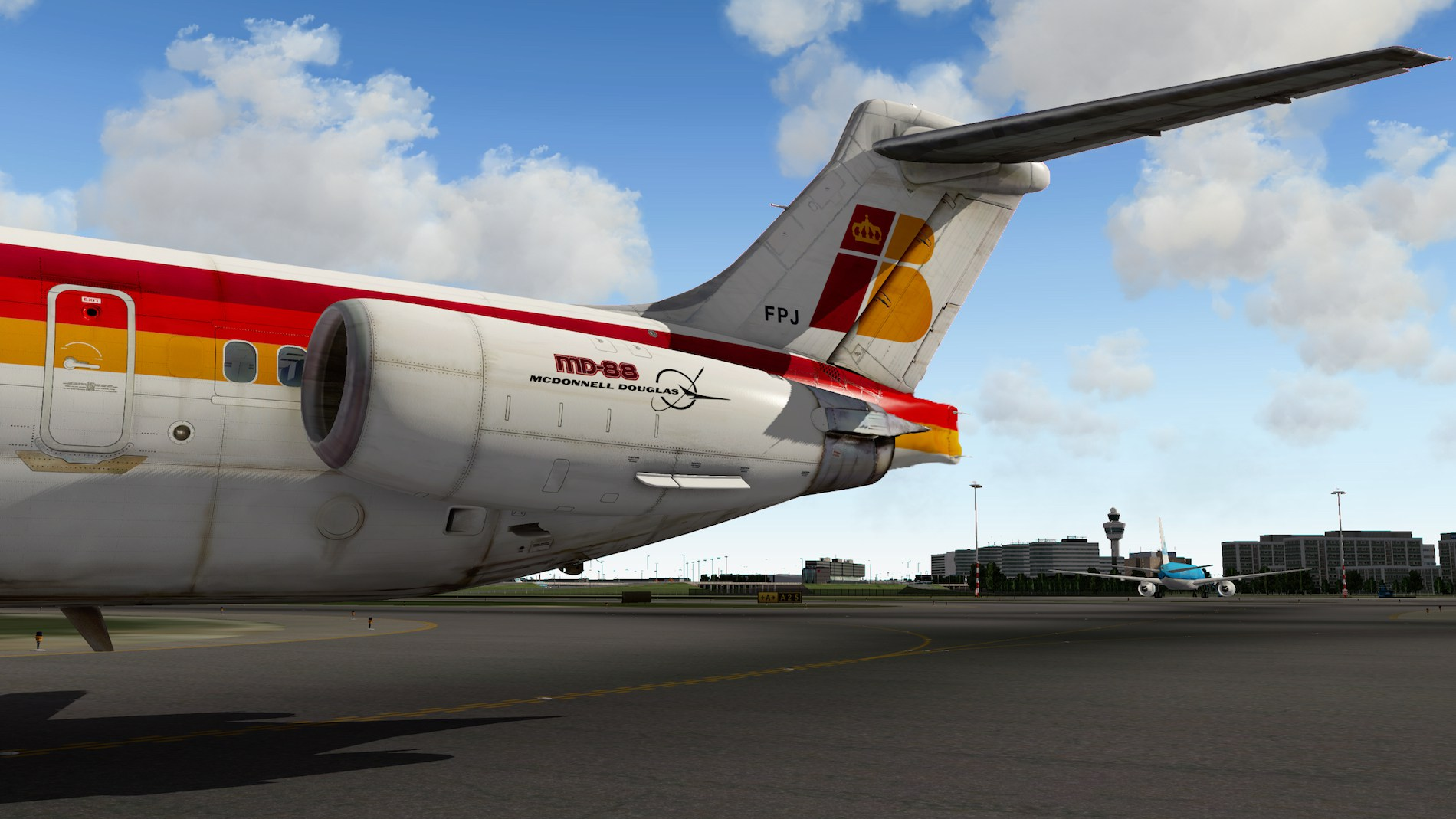 Rotate MD-88 Iberia Flight EHAM-GCTS 22