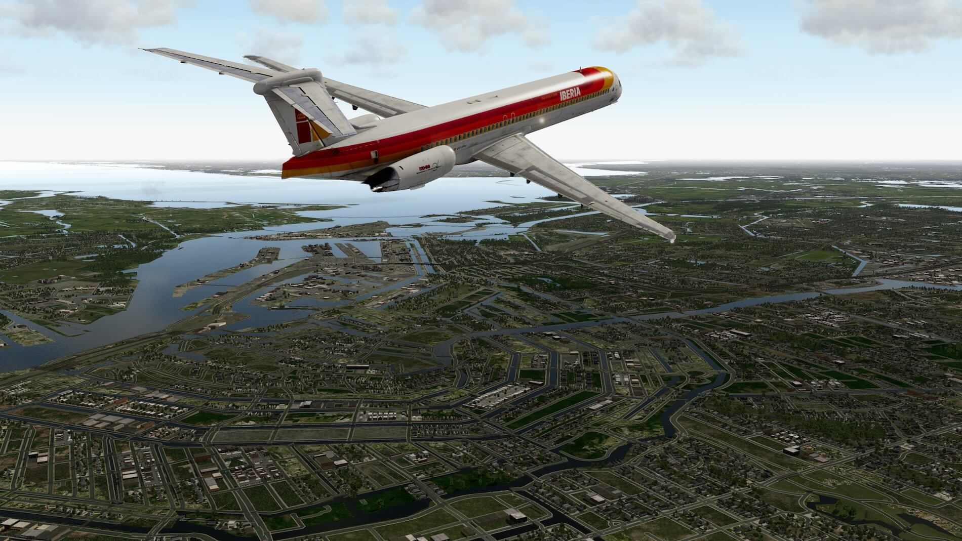Rotate MD-88 Iberia Flight EHAM-GCTS 27