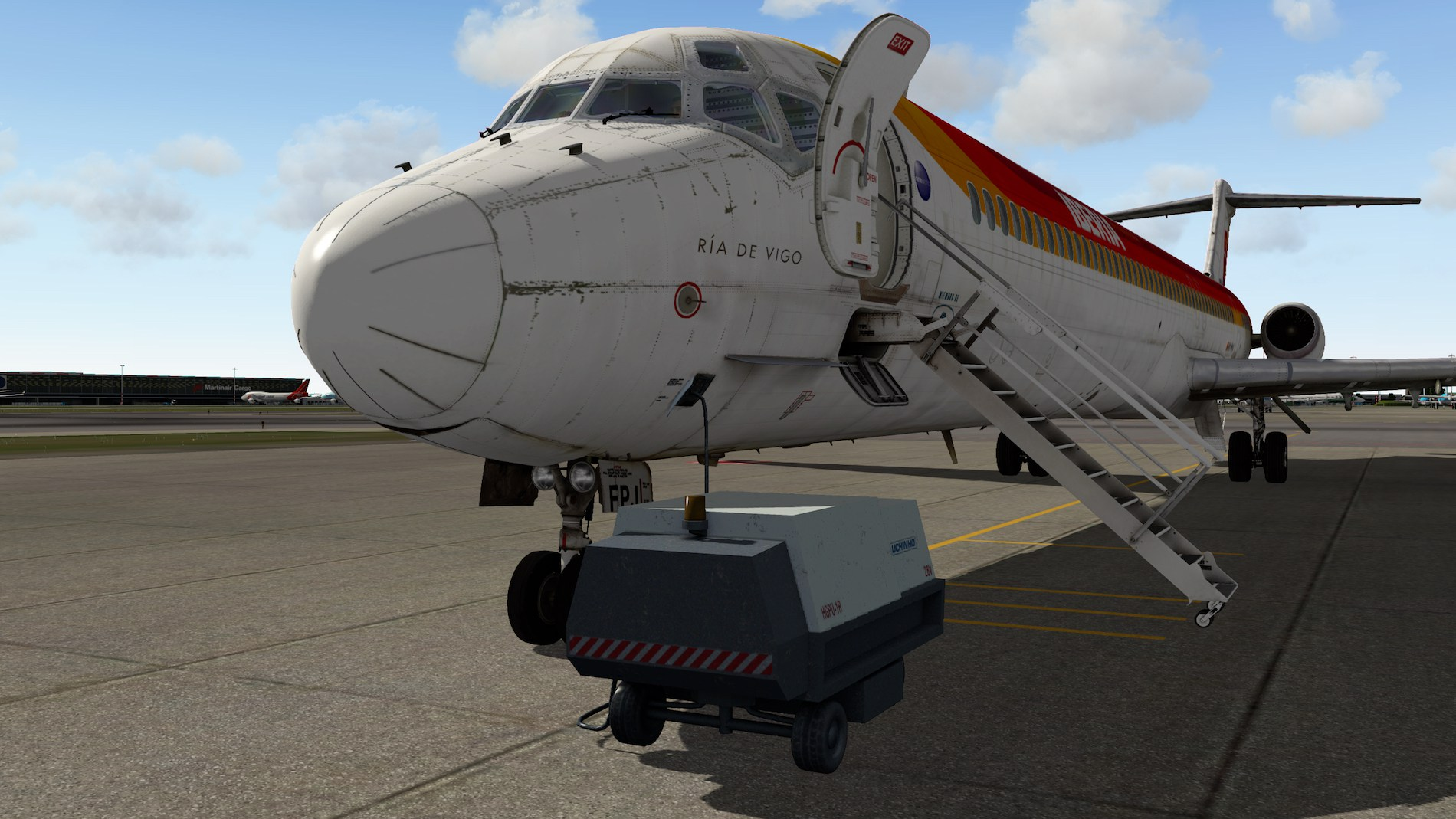 Rotate MD-88 Iberia Flight EHAM-GCTS 3