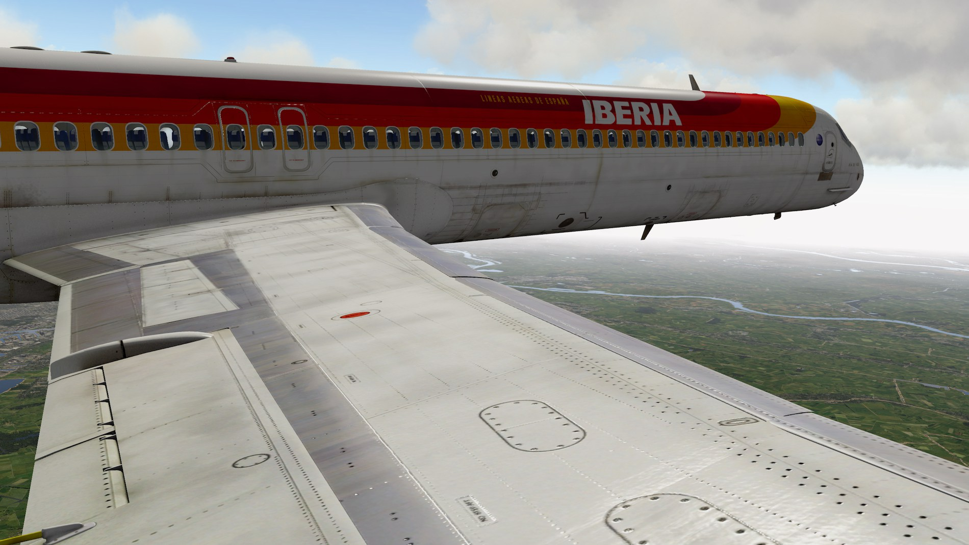 Rotate MD-88 Iberia Flight EHAM-GCTS 30
