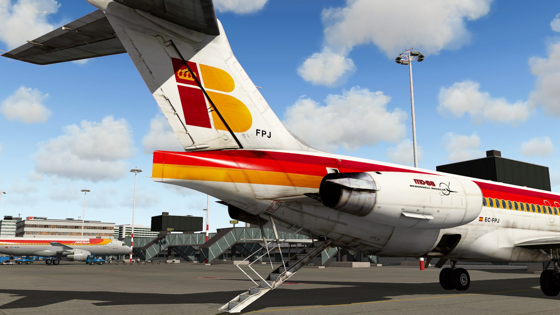 Rotate MD-88 Iberia Flight EHAM-GCTS 5