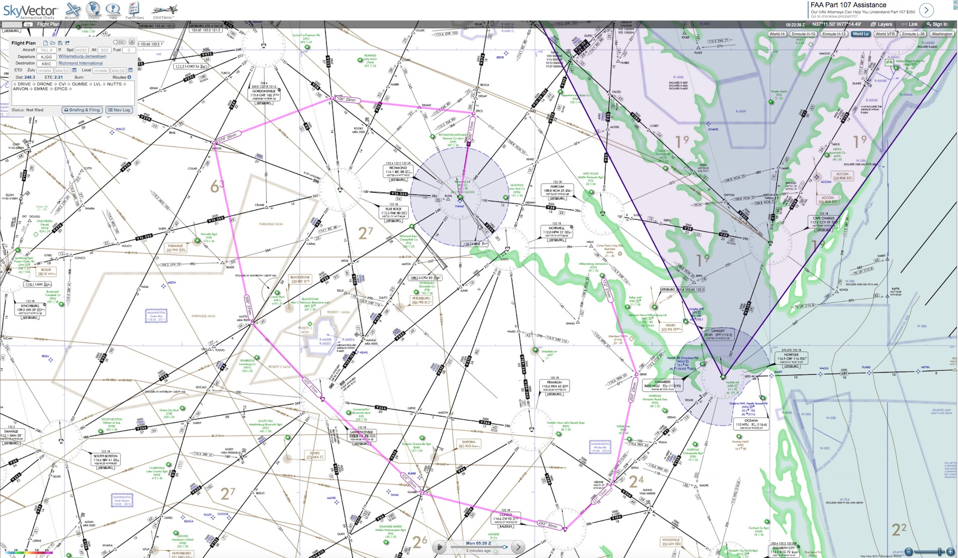 Skyvector flight vfr planning - Flight Plan Of The First Set Of Screenshots Made With Online Flight Planner The Second Flight Plan Handmade With The Help Of Skyvector As Well As An