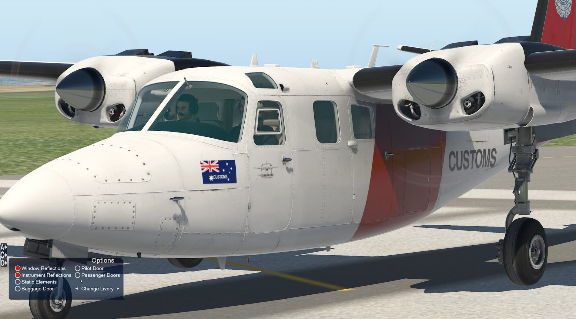 Seven liveries are available with tail codes for aircraft in Canada,  Australia and USA. All are clear and sit correctly on the aircraft.