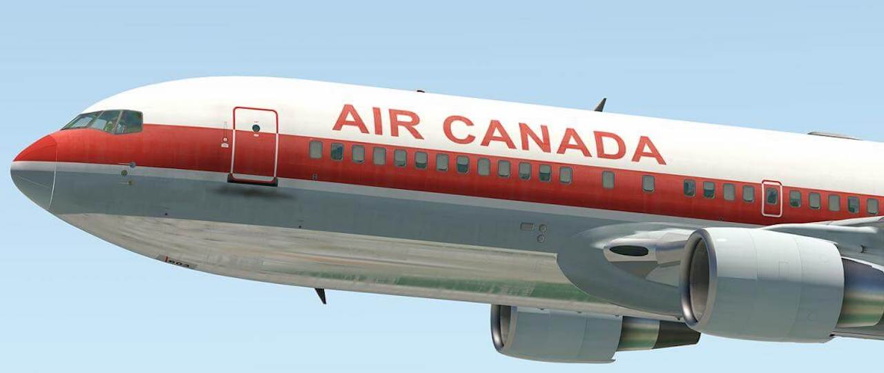 767-200 | Air Canada C-GAUH (Retro) | X-Plained, the Source for All