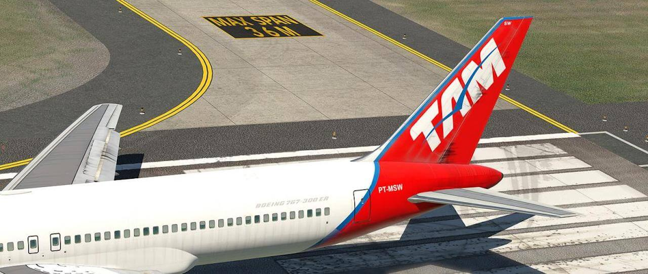 767-300ER   TAM PT-MSW   X-Plained, the Source for All Your X-Plane
